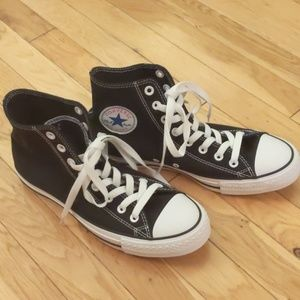 New high top Converse, black size 10